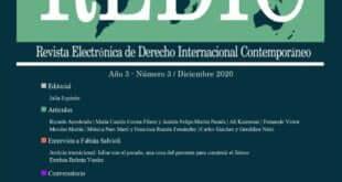 Revista Electrónica de Derecho Internacional Contemporáneo – Año 3 / Número 3 / Diciembre 2020