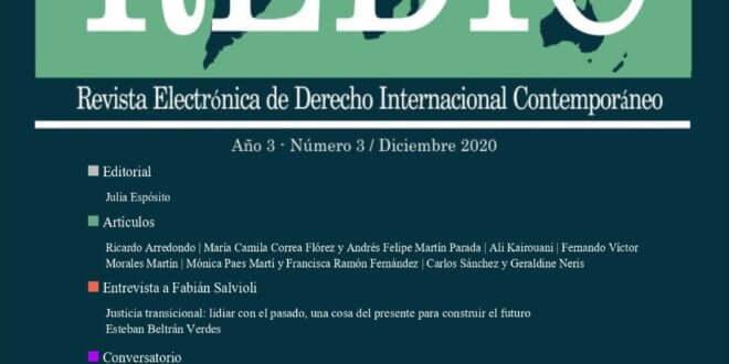 Revista Electrónica de Derecho Internacional Contemporáneo - Año 3 / Número 3 / Diciembre 2020