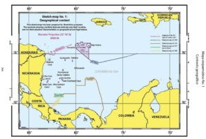 Mapa esquemático No. 1: Contexto geográfico.