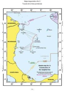 Mapa esquemático No. 9: Trazado de la línea ponderada.