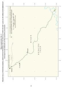 """—Mapa esquemático No. 2: Trazado de la frontera desde el marcador astronómico de Tao hasta el punto en que """"llega al río Sirba en Bossébangou"""""""