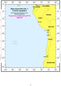 — Mapa esquemático No. 1: Contexto geográfico