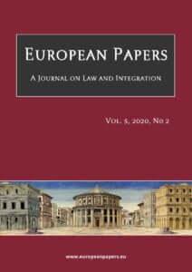 European Papers - Vol. 5, 2020, No 2