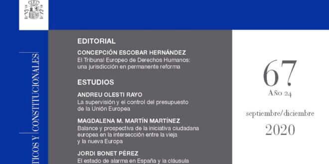 Revista de Derecho Comunitario Europeo - número 67, Septiembre/Diciembre 2020