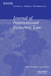 Journal of International Economic Law - Volume 23, Issue 4, December 2020