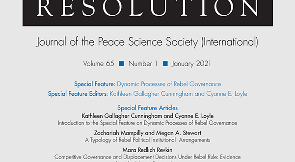 Journal of Conflict Resolution - Volume 65 Issue 1, January 2021