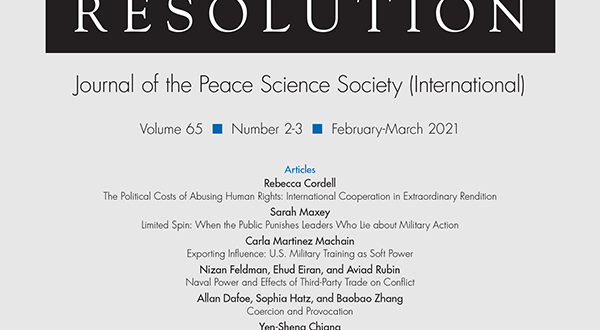 Journal of Conflict Resolution - Volume 65 Issue 2-3, February-March 2021