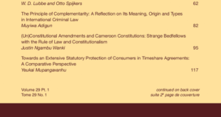 African Journal of International and Comparative Law - Volume 29, Issue 1, February, 2021