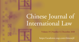 Chinese Journal of International Law - Volume 19, Issue 4, December 2020