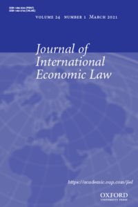 Journal of International Economic Law - Volume 24, Issue 1, March 2021