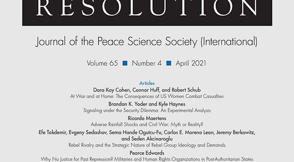 Journal of Conflict Resolution - Volume 65 Issue 4, April 2021