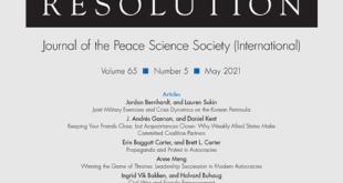 Journal of Conflict Resolution - Volume 65 Issue 5, May 2021