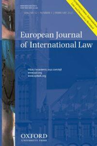 European Journal of International Law - Volume 32, Issue 1, February 2021