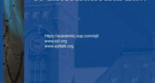 European Journal of International Law – Volume 32, Issue 1, February 2021