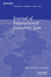 Journal of International Economic Law - Volume 24, Issue 2, June 2021