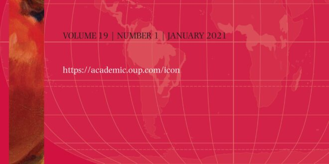 International Journal of Constitutional Law - Volume 19, Issue 1, January 2021