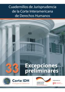 Cuadernillo de Jurisprudencia de la Corte Interamericana de Derechos Humanos - No. 33: Excepciones Preliminares