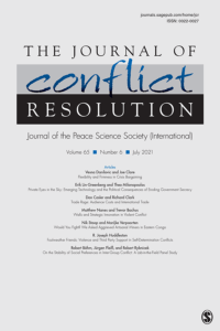 Journal of Conflict Resolution - Volume 65 Issue 6, July 2021