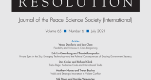 Journal of Conflict Resolution – Volume 65 Issue 6, July 2021