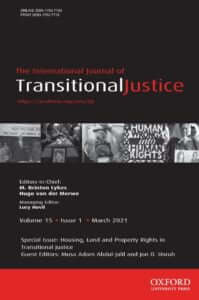 International Journal of Transitional Justice - Volume 15, Issue 1, March 2021