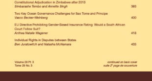 African Journal of International and Comparative Law - Volume 29, Issue 3, August, 2021
