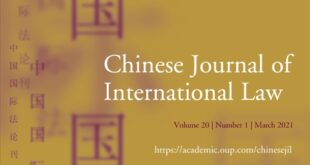 Chinese Journal of International Law - Volume 20, Issue 1, March 2021