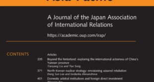 International Relations of the Asia-Pacific – Volume 21, Issue 3, September 2021