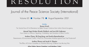Journal of Conflict Resolution – Volume 65 Issue 7-8, August-September 2021